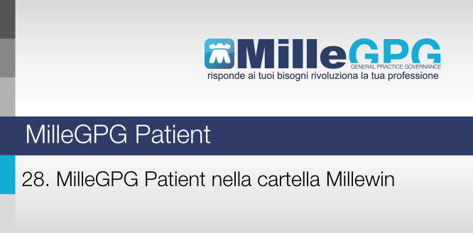 MilleGPG – MilleGPG Patient nella cartella Millewin