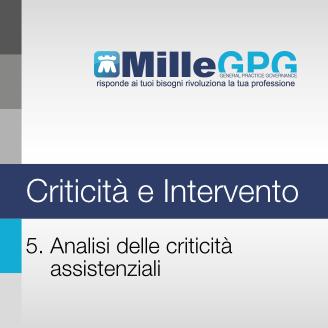 MilleGPG – Analisi delle Criticità Assistenziali