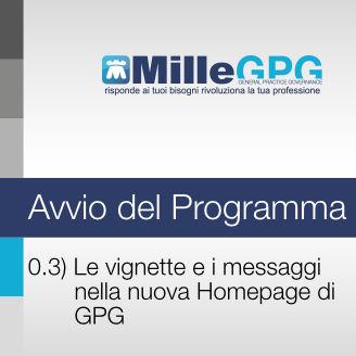 Le vignette e i messaggi nella nuova Homepage di GPG