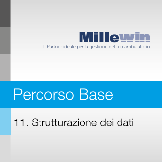 Millewin – Corso BASE – 11. Strutturazione dei dati